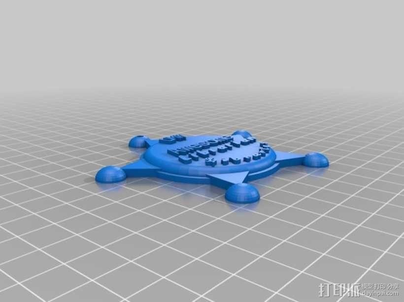 图书馆标志 3D模型  图1