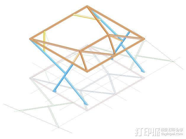 汽车展示厅建筑结构 3D模型  图1