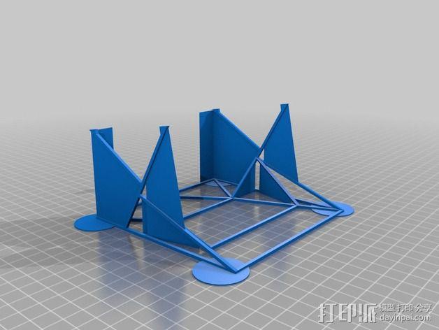 汽车展示厅建筑结构 3D模型  图2