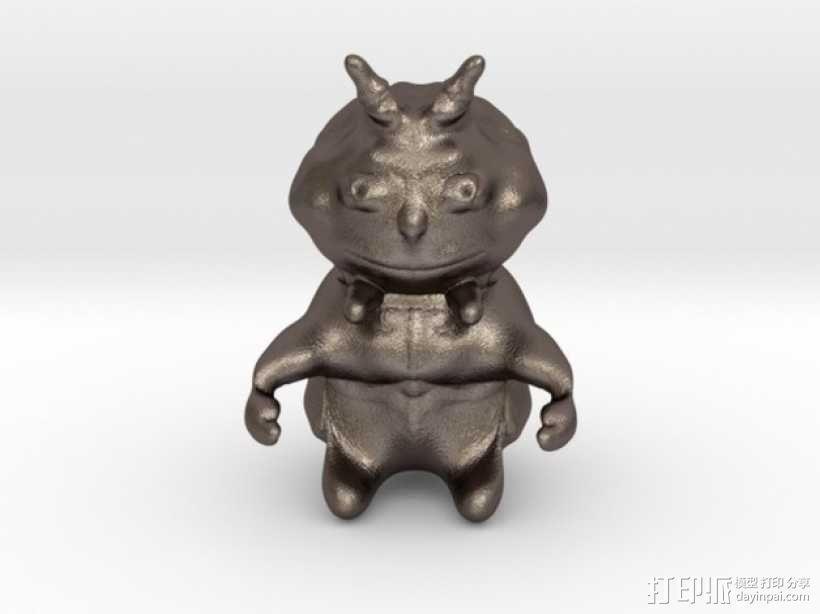 恶魔小雕像 3D模型  图1