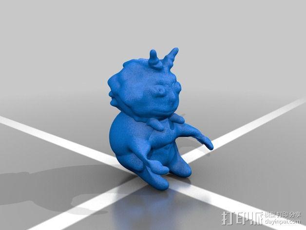 恶魔小雕像 3D模型  图2