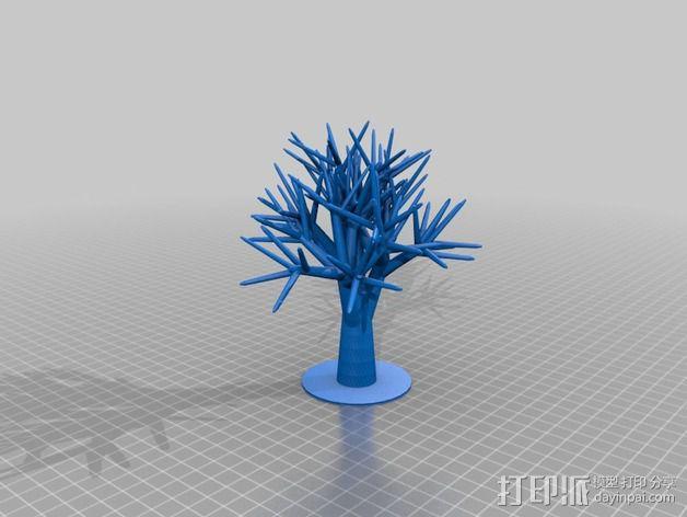 首饰树 3D模型  图1