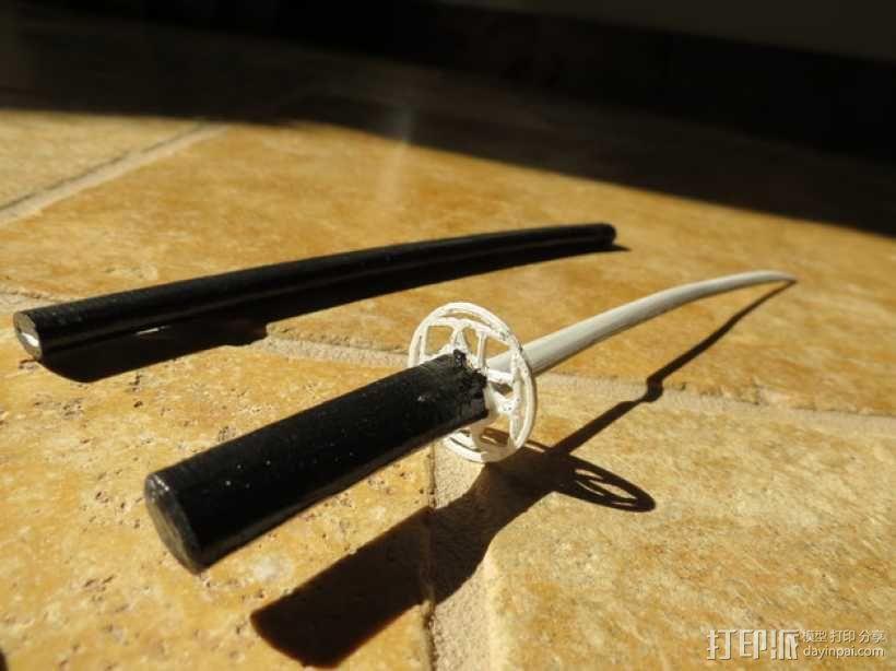 日本武士刀 刀架 3D模型  图3