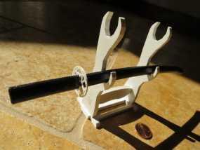 日本武士刀 刀架 3D模型