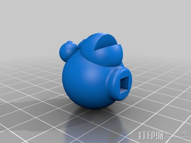 方杆头  3D模型  图4