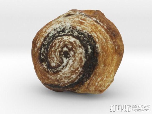 卡布奇诺咖啡卷面包 3D模型  图5