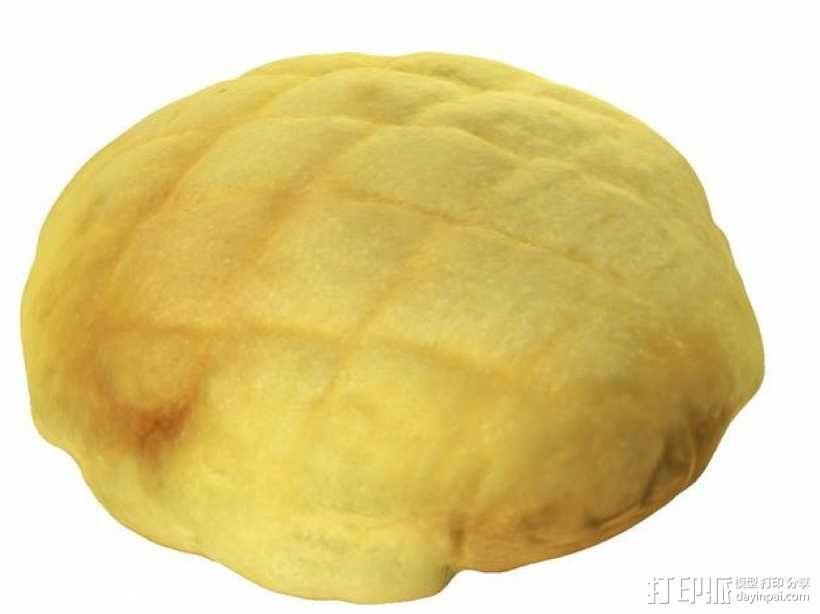菠萝包 面包 3D模型  图1