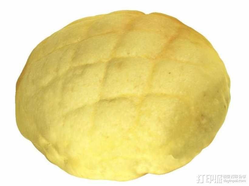 菠萝包 面包 3D模型  图3