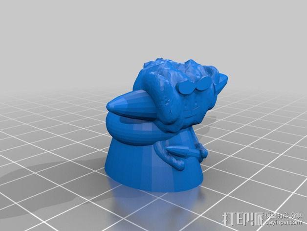 卡通尤达大师 3D模型  图2