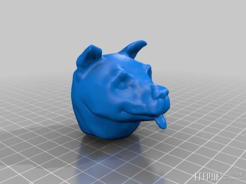 狗头模型 3D模型  图2