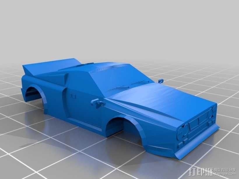 Lancia 037蓝旗亚赛车 3D模型  图1
