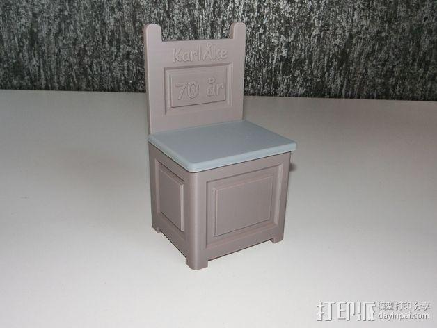 旧式椅子 3D模型  图2