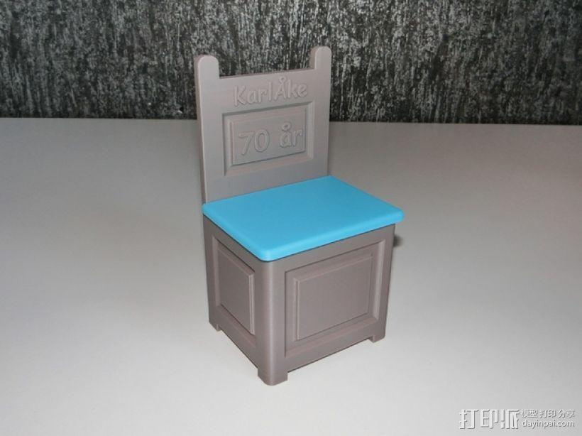 旧式椅子 3D模型  图1