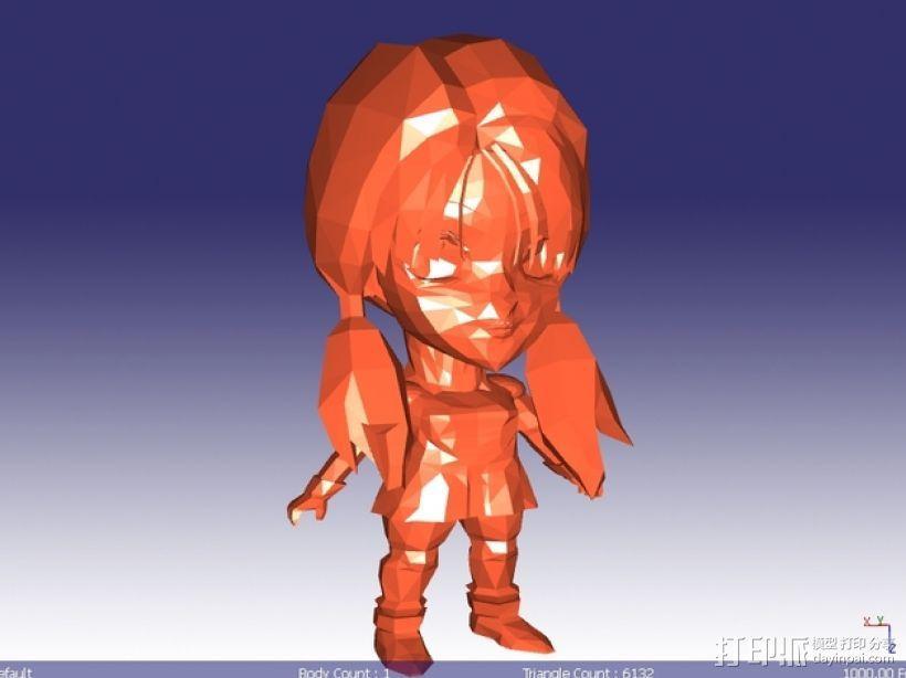 日本动漫女孩 3D模型  图1