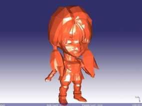 日本动漫女孩 3D模型