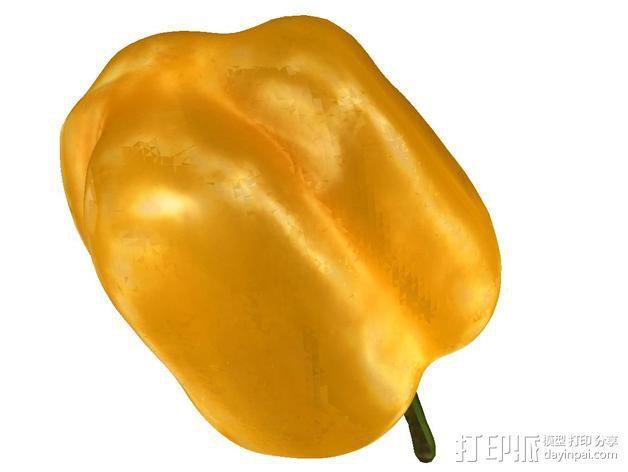 黄色的甜椒 3D模型  图4