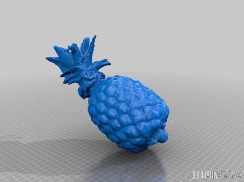 菠萝 3D模型  图2