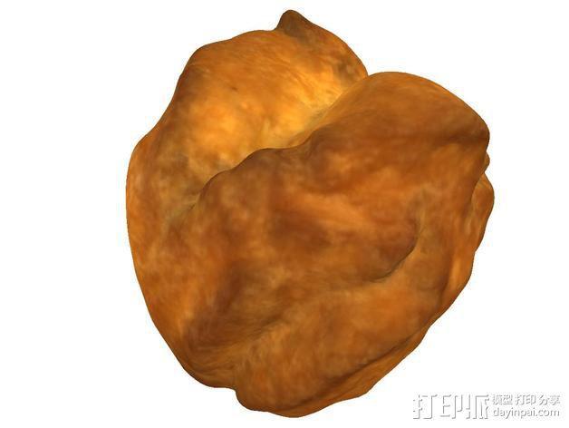 沙翁 面包 3D模型  图3