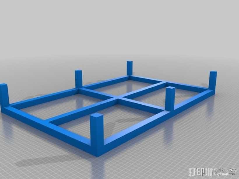 底层架空柱 3D模型  图1