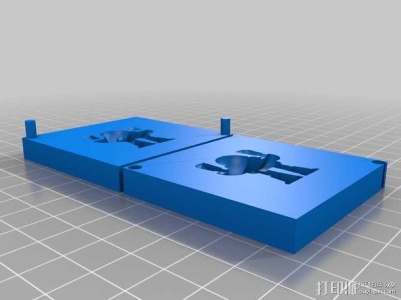 创客机器人模具 3D模型  图1
