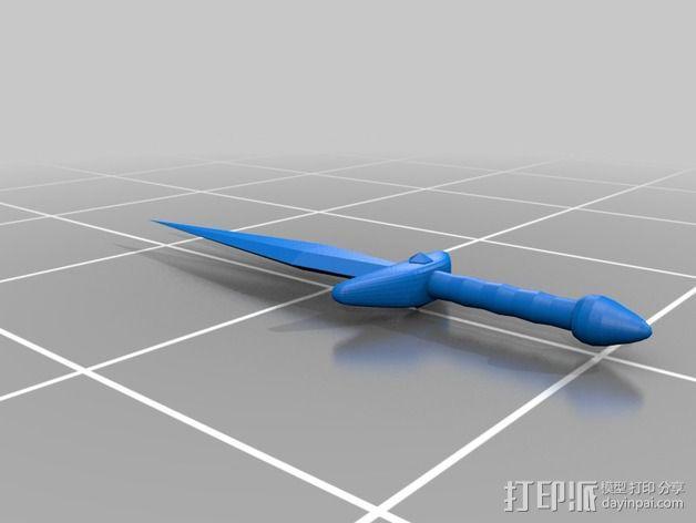 短剑 3D模型  图2