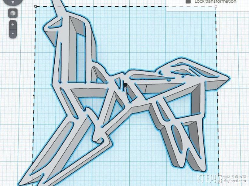 银翼杀手纸折独角兽 3D模型  图2