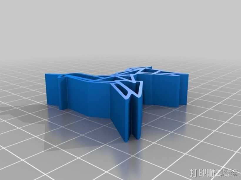 银翼杀手纸折独角兽 3D模型  图1