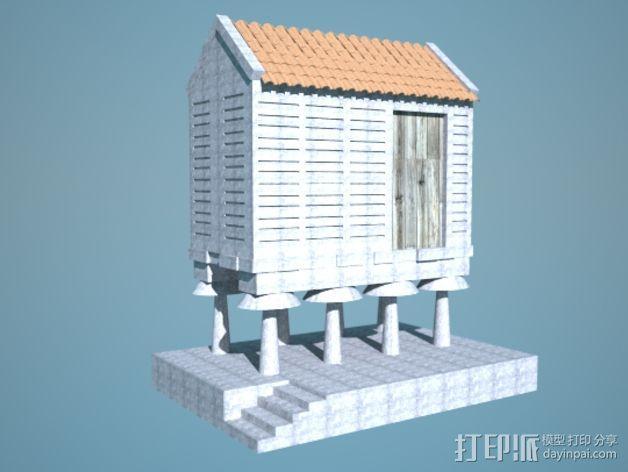 储粮仓 3D模型  图4