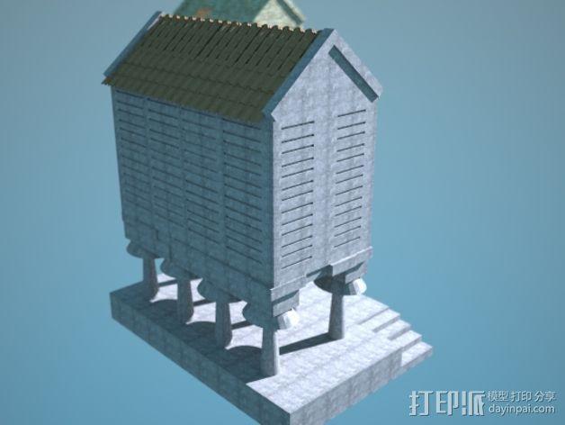 储粮仓 3D模型  图3