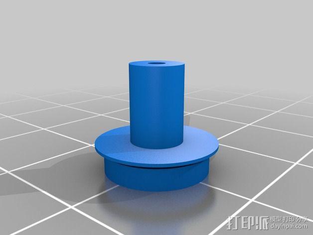 卡车车轮 3D模型  图3