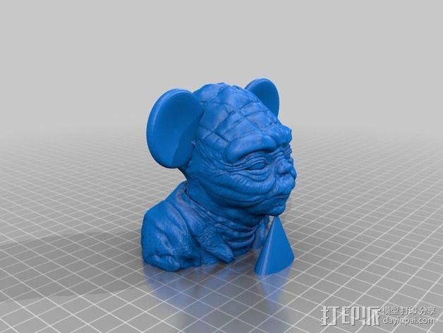 老鼠尤达 3D模型  图2