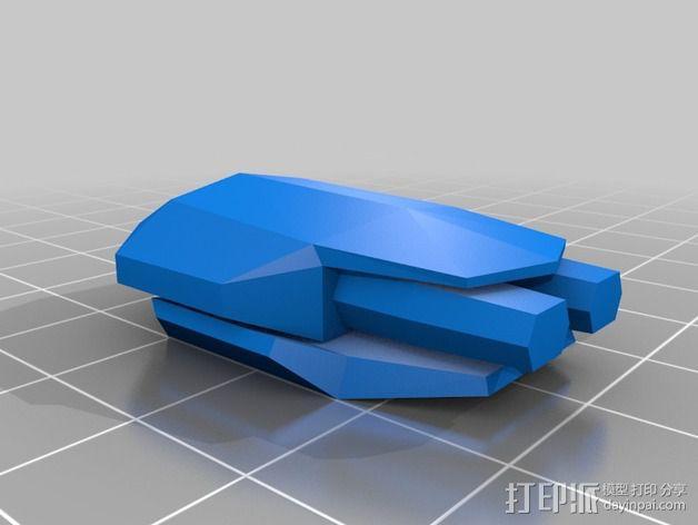 Vagyr Destroyer飞船 3D模型  图5