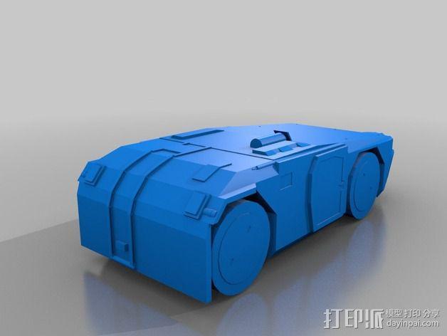 重型装甲坦克 3D模型  图1