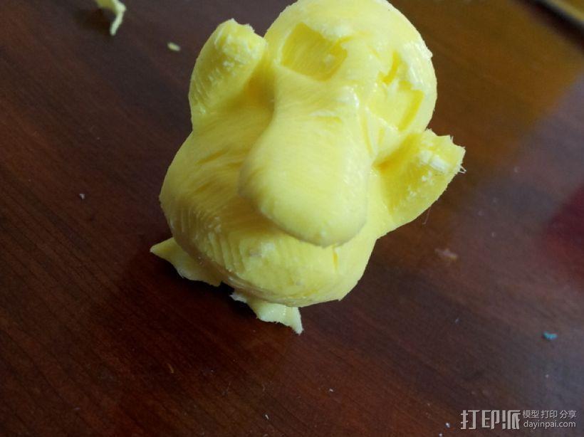 可达鸭模具 3D模型  图1
