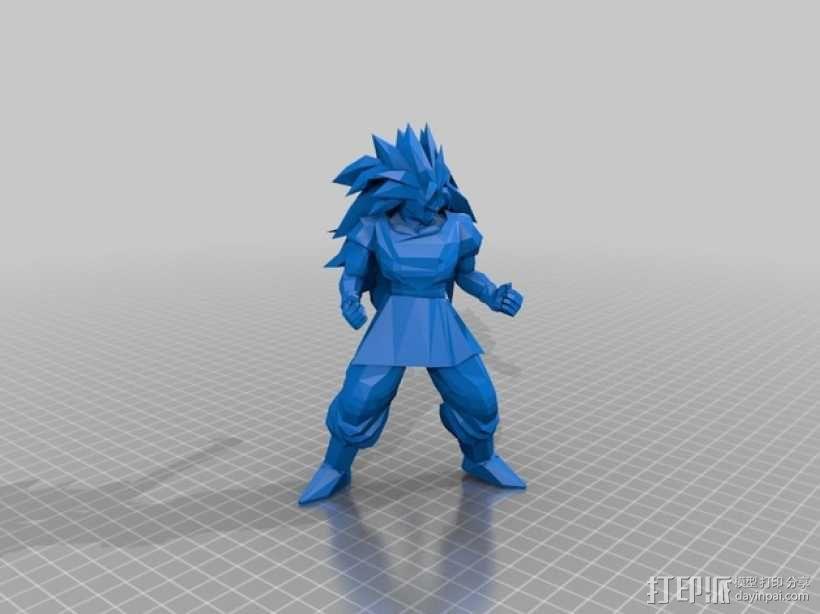 超级赛亚人悟空 3D模型  图2