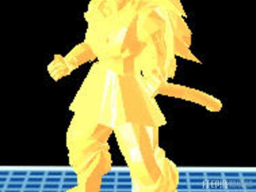 超级赛亚人悟空 3D模型  图1