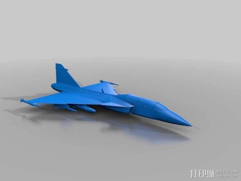 JAS 39鹰狮战斗机 3D模型  图1