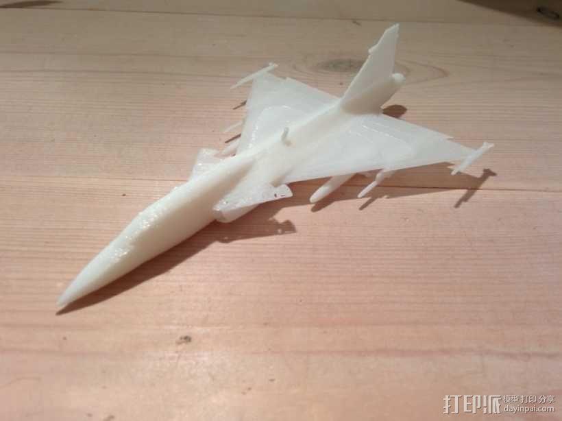 JAS 39鹰狮战斗机 3D模型  图3