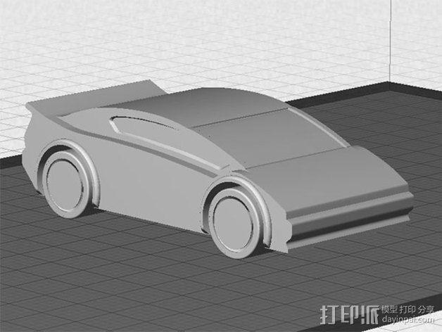 运动跑车 3D模型  图1