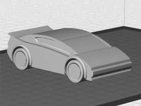 运动跑车 3D模型