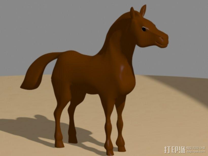 骏马 3D模型  图1