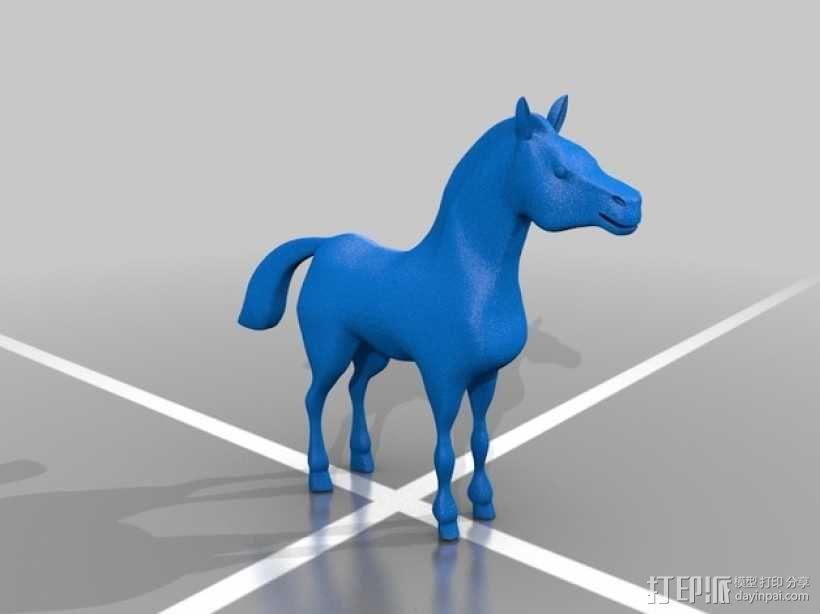 骏马 3D模型  图2