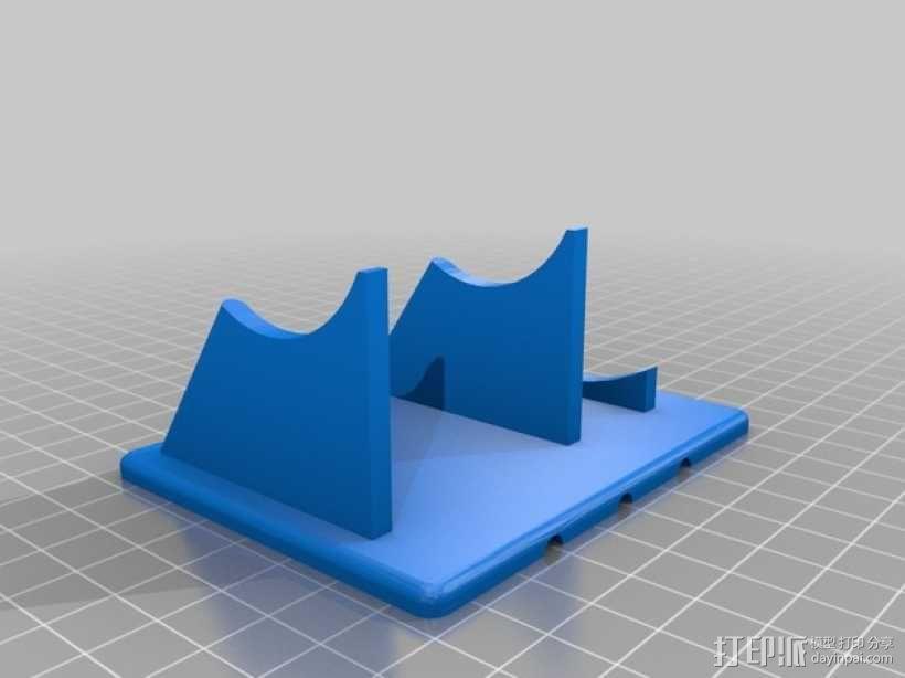 喷气发动机支架 3D模型  图1
