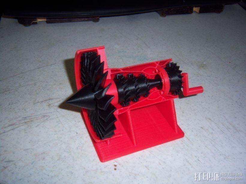喷气发动机支架 3D模型  图2