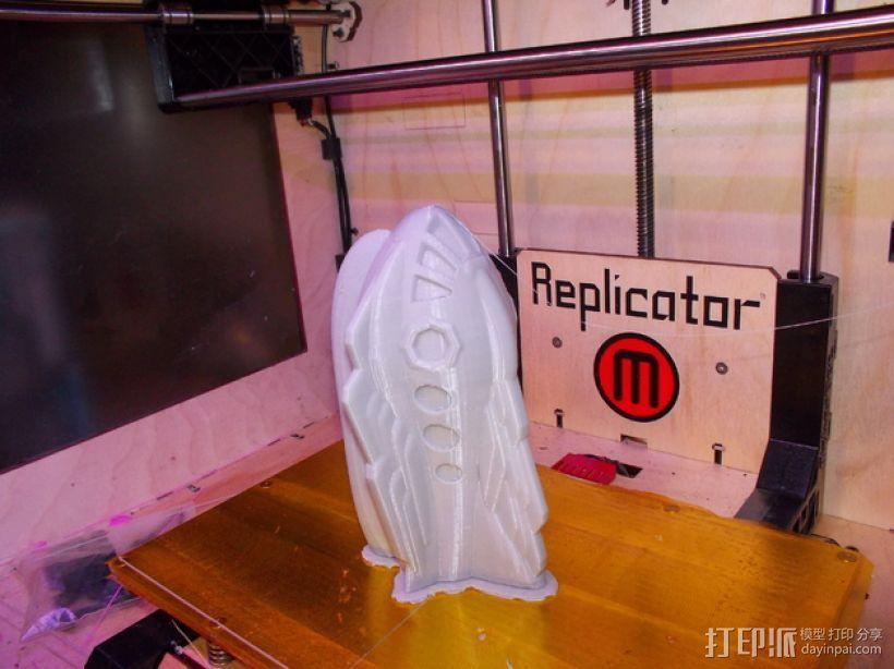 Retro 58火箭 3D模型  图6
