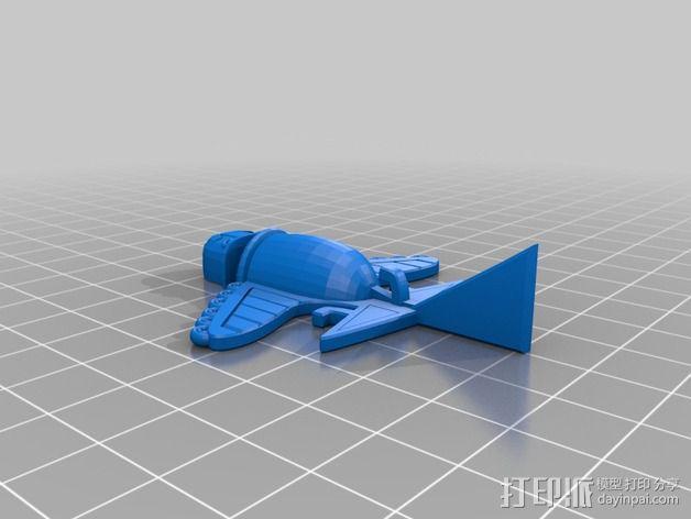 Ancient Alien 飞机  3D模型  图2