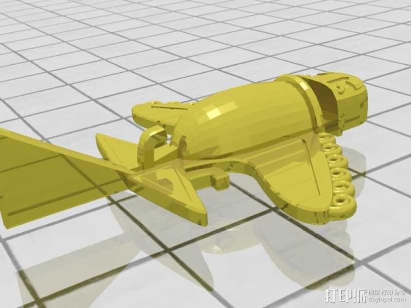 Ancient Alien 飞机  3D模型  图1