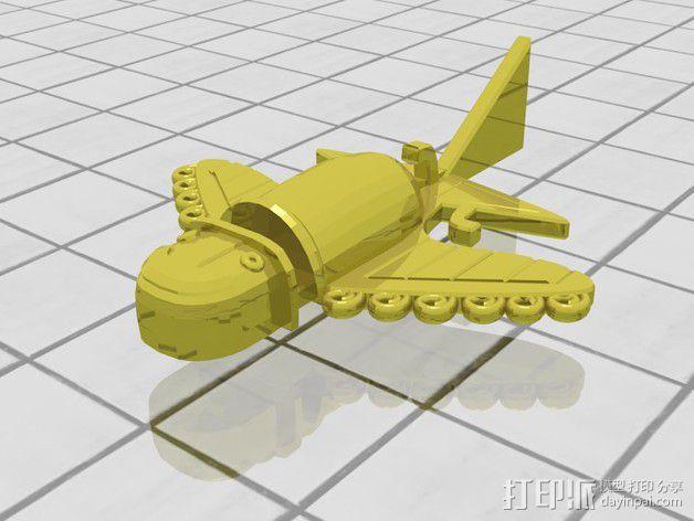 Ancient Alien 飞机  3D模型  图3