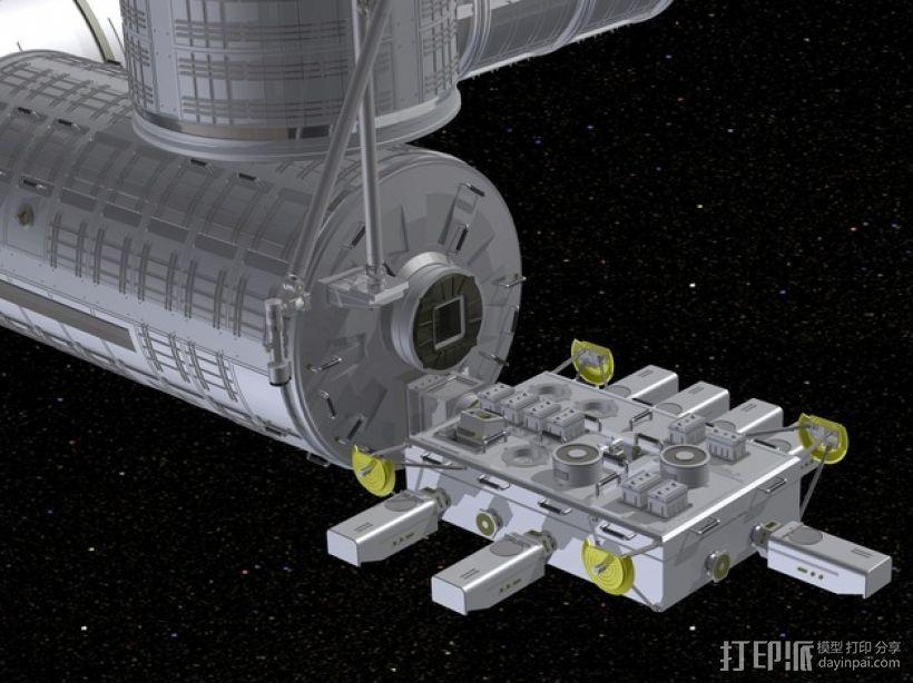 国际空间站 通信卫星  3D模型  图1