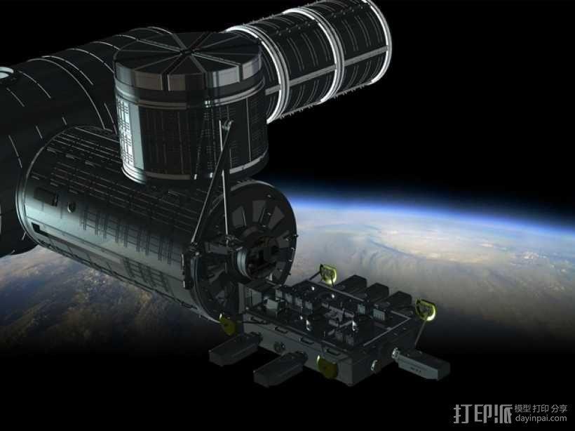 国际空间站 通信卫星  3D模型  图4